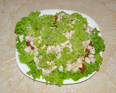 салат цезарь классический с тофу