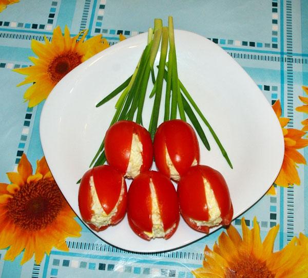 салат тюльпаны фоторецепт
