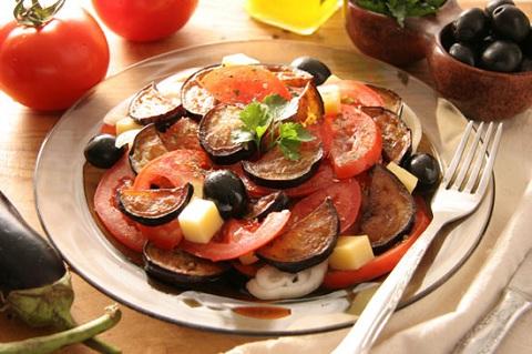 салат баклажаны с помидорами