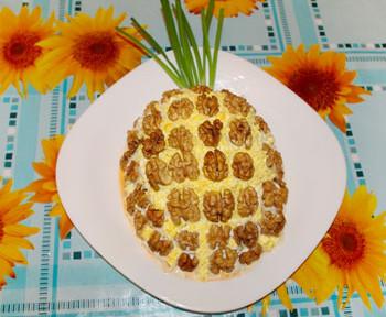 салат ананас к праздничному столу