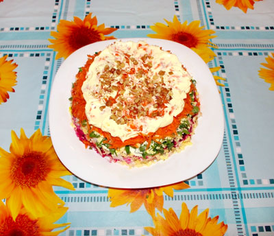 салат Шапка мономаха, рецепт салата