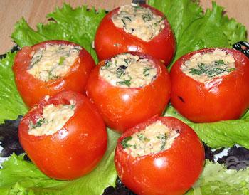 салат помидоры фаршированные