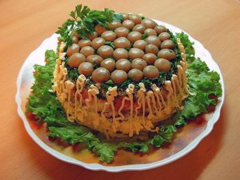 грибная поляна салат шампиньоны