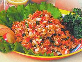 салат чингисхан, салат овощной из восточной кухни