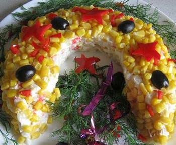 салат подкова к новому году 2014