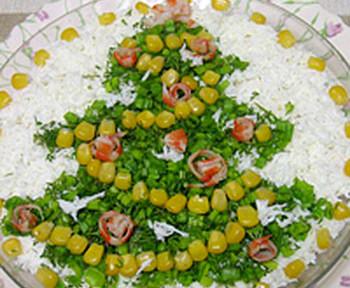 салат новогодний елочка