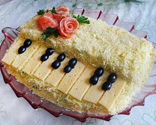 салат белый рояль праздничный