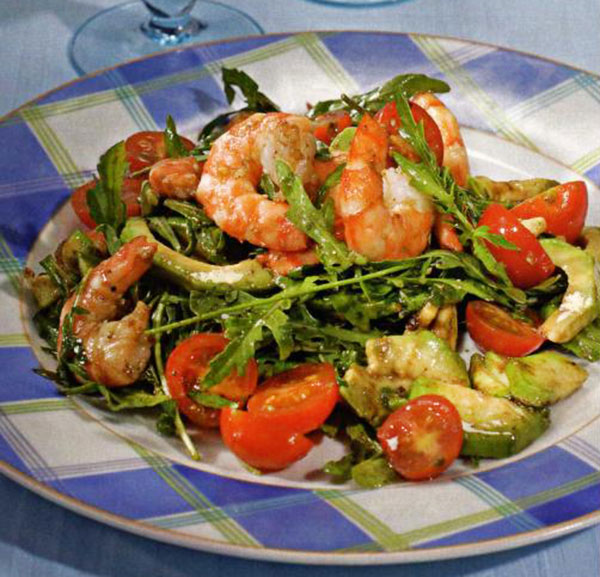 салат из авакадо с креветками