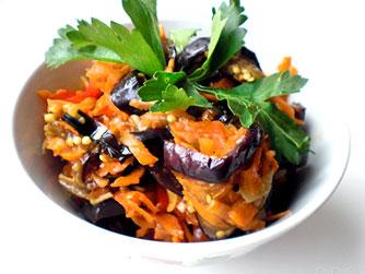 салат два баклажана