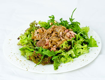 салат оливье с печенью