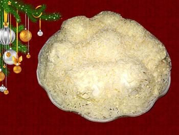 салат новогодний снежные сугробы