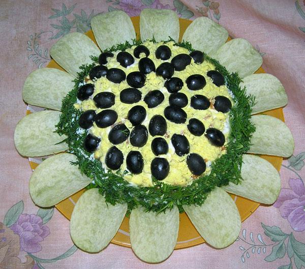 Салат подсолнух, рецепт с фото