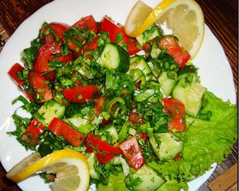 чобан салат, пастуший салат по турецки