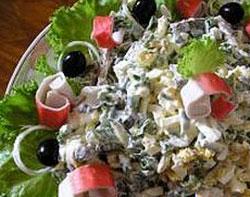 салат после бала крабовый
