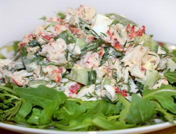 салат крабовый с сельдереем