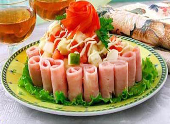 салат аргентинское танго мясной с ветчиной