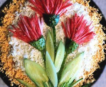салат цветочный