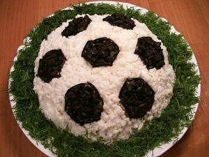 салат футбол