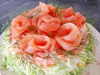 салат с лососем королевская шуба