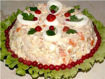 салат из рыбы морской царь