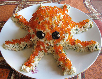 салат осьминог