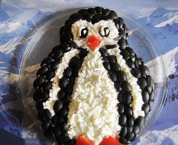 салат пингвин из горбуши