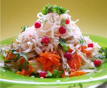 салат зимний с капустой