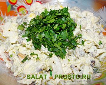салат из мидий с капустой пошаговый