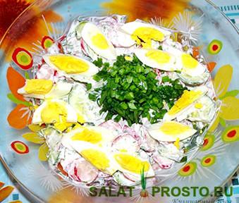 салат витаминный редиска огурец лук