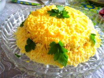 салат горбуша с рисом