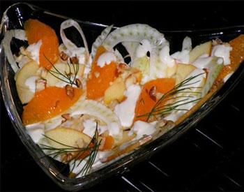 салат из фенхеля с фруктами