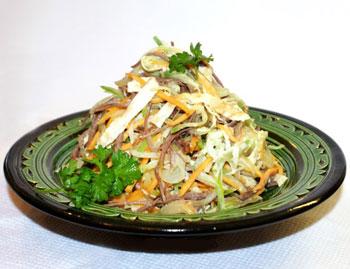 салат мясной с редькой Загадка