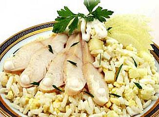 салат рыбный с сыром