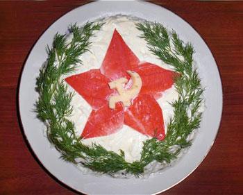 салат звезда к 23 февраля