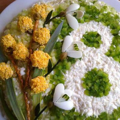 салат из курицы к 8 марта