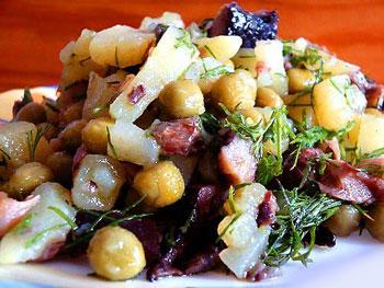 салат постный картофельный
