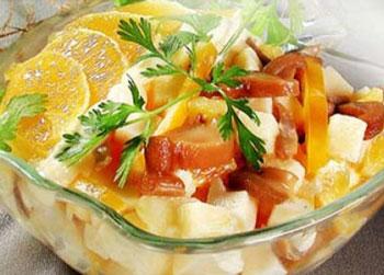 салат грибной с апельсином