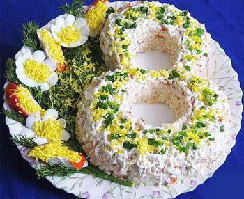 салат к 8 марта из курицы и ананасов