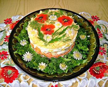 салат маки из семги