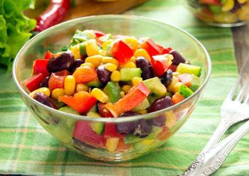 салат овощной постный по мексикански