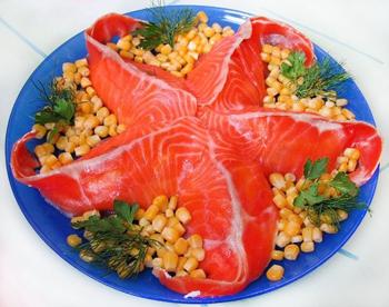 салат морская звезда из семги