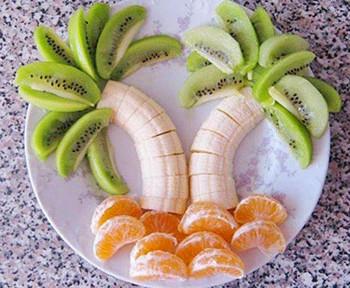 салат пальма киви банан