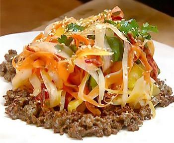 салат из печени с морковью и яблоком