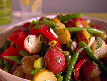 салат из овощей в пост