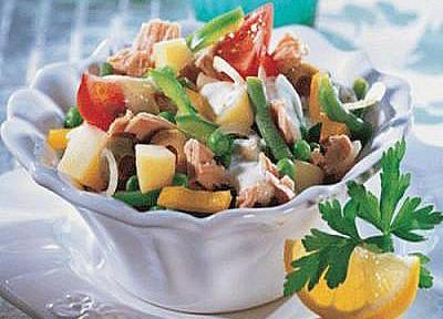 автсралийский салат с ветчиной и овощами