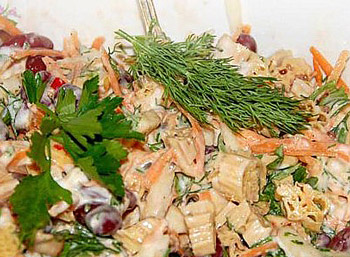 салат индийский фасоль со спаржей, салат вегетарианский