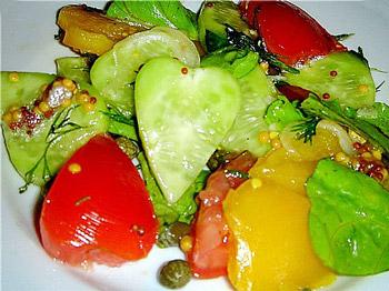 салат овощной легкий купидон, салат из помидоров, перца и огурца
