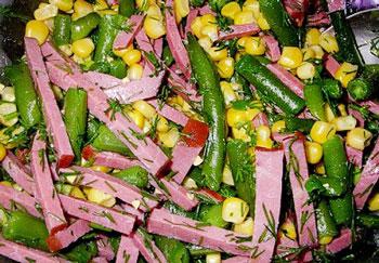 салат из говядины и фасоли, рецепт с фото