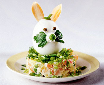 салат к пасхе с кроликом