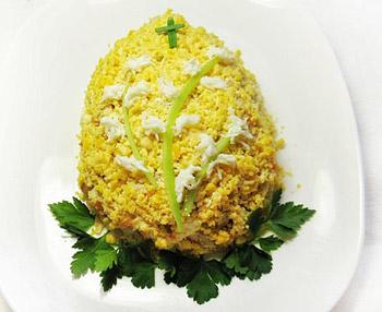 салат пасхальное яйцо, рецепт салата к празднику пасхе